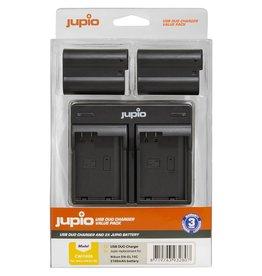 Jupio Jupio Value Pack: 2x EN-EL15C 2100mAh + USB Dual Charger