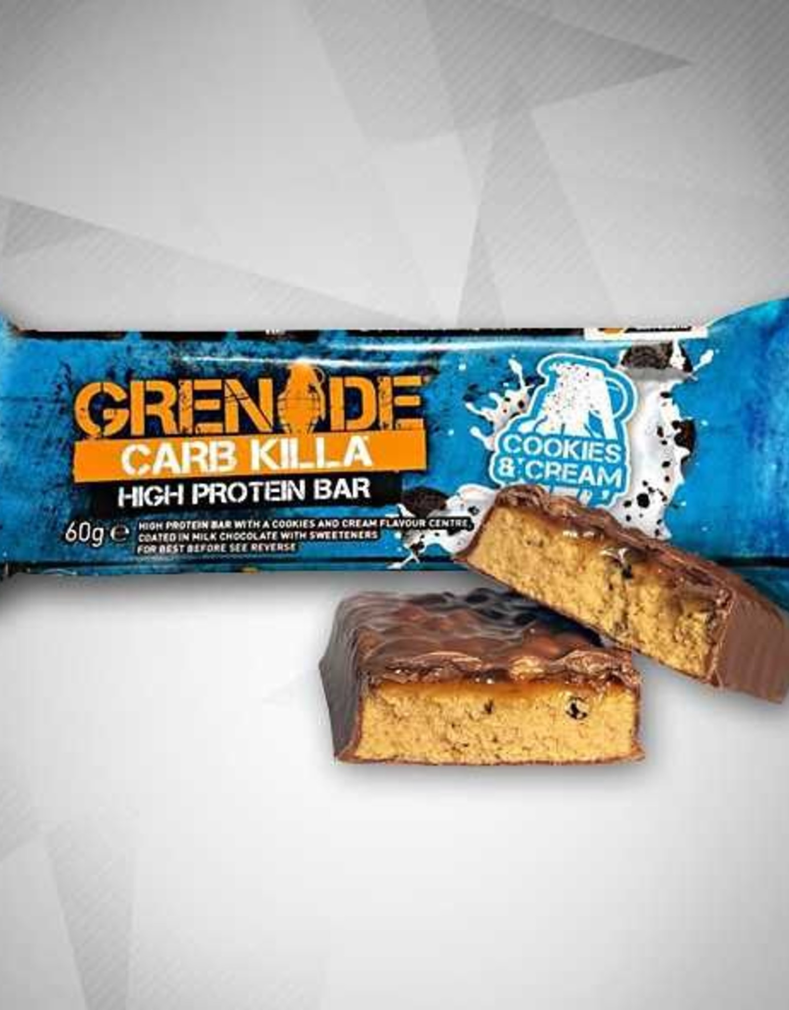 Grenade  Carb killa bars cookies & cream (12 repen per doos)