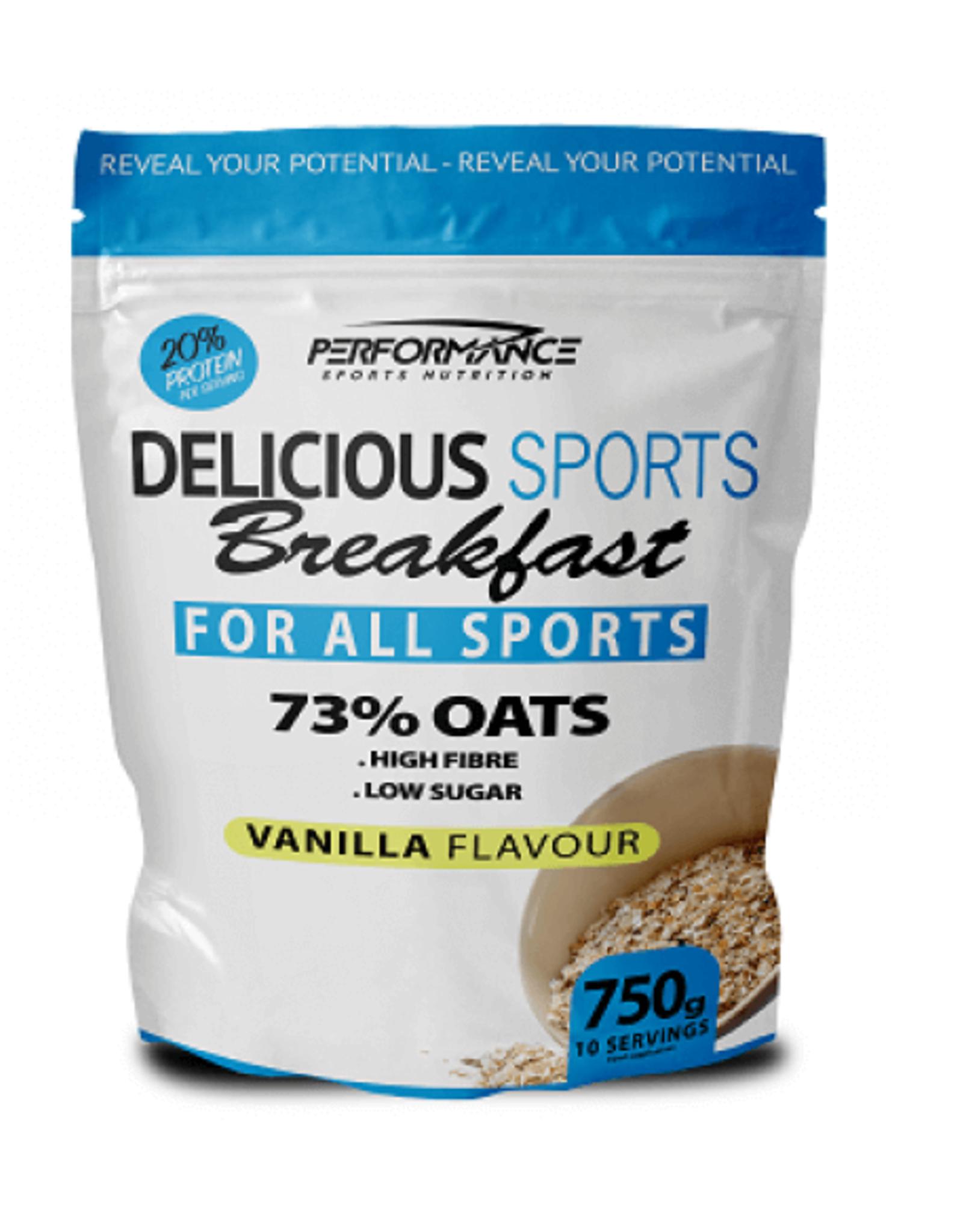 Performance Delicous sports breakfast 750 gram