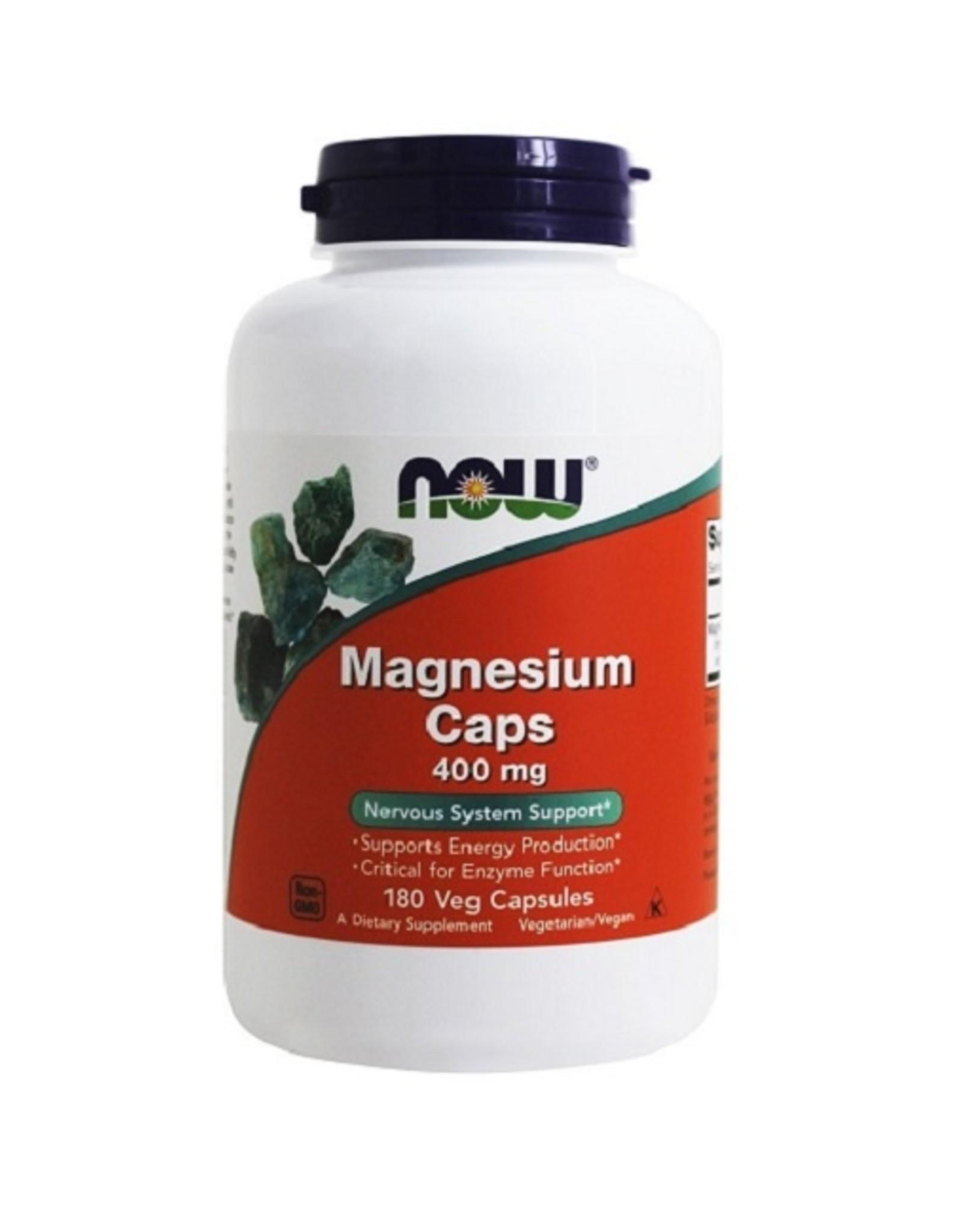 NOW Foods Magnesium 400 mg, 180 capsules