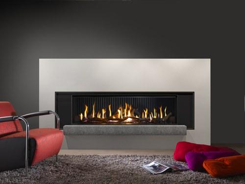 Luxe Kal-fire gashaard met sfeervol vuur