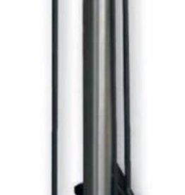 Südmetall Haardset 3-delig RVS zwart met glazen voet.