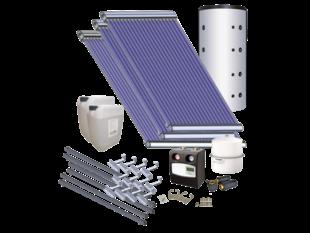 AkoTec Set voor tapwater/verwarmingsondersteuning (medium), plat dak