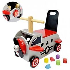 I'm Toy Houten Loopwagen Vliegtuig