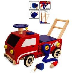 I'm Toy houten loop/duwwagen Brandweer