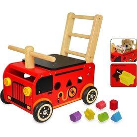 I'm Toy  Houten Loopwagen Brandweer, I'm Toy