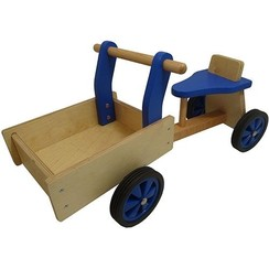 Kinderbakfiets hout Blauw
