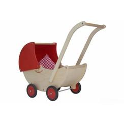 Houten Poppenwagen Rood  Van Dijk Toys