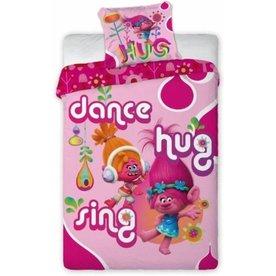 Trolls Dekbedovertrek Hugs Roze