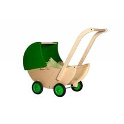 Houten Poppenwagen Groen, van Dijk Toys