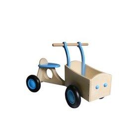 Van Dijk Toys Kinderbakfiets Hout Lichtblauw, van Dijk Toys