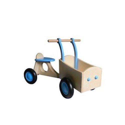 Van Dijk Toys Bakfiets Hout Lichtblauw, van Dijk Toys