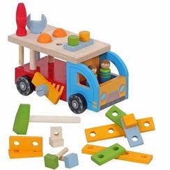 Houten vrachtwagen / Gereedschap auto Playwood