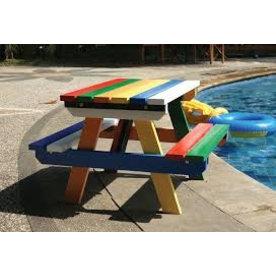 Tuindeco Kinder Picknicktafel Hardhout Gekleurd