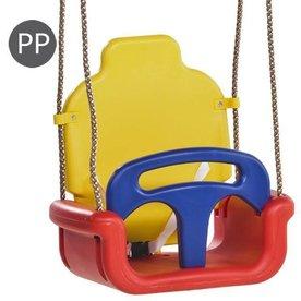 Tuindeco Meegroei Baby Schommel 3 in 1 Blauw-oranje-geel