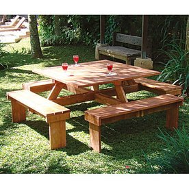 Tuindeco Picknicktafel Vierkant Hardhout