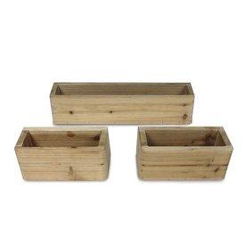 Bloembakjes voor houten speelhuis