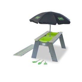 Exit EXIT Aksent zand- en watertafel met parasol en tuingereedschap