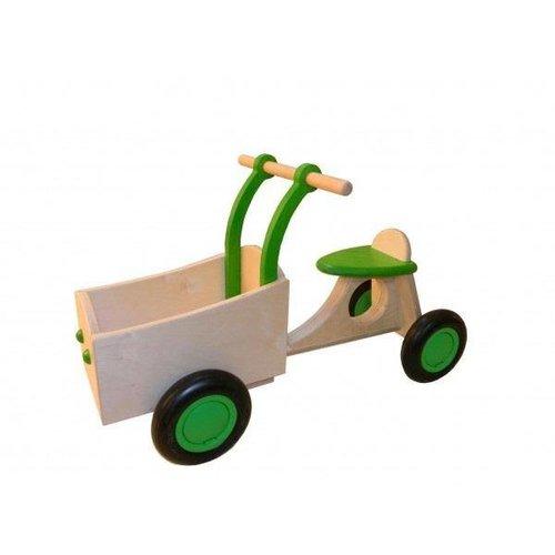 Van Dijk Toys Houten Bakfiets groen, Dijktoys