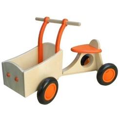 Kinderbakfiets Oranje, van Dijk Toys