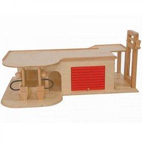 Van Dijk Toys Houten Garage, 2 verdiepingen met lift