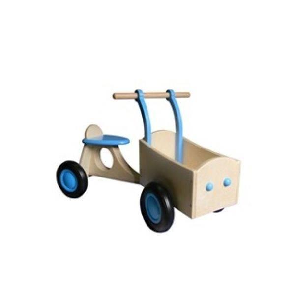Loopfietsen en bakfietsen van zowel hout als metaal