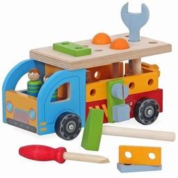 Leuke houten speelgoedauto's die jouw speelgoedgarage nog leuker maken