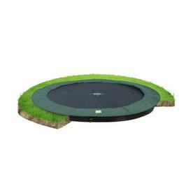 EXIT InTerra Groundlevel trampoline ø366 cm - groen