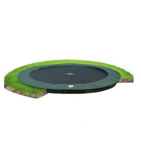 Exit EXIT InTerra Groundlevel trampoline  ø427 cm - groen