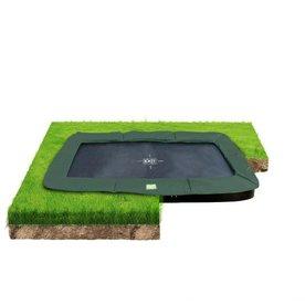 Exit EXIT InTerra groundlevel trampoline 214x366cm - groen