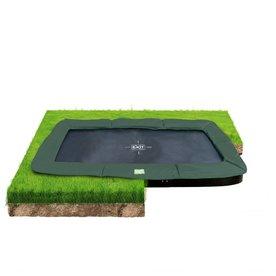 Exit EXIT InTerra groundlevel trampoline 244x427cm - groen