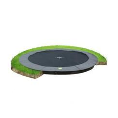 EXIT InTerra groundlevel trampoline ø366cm - grijs