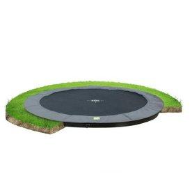 Exit EXIT InTerra groundlevel trampoline ø427cm - grijs