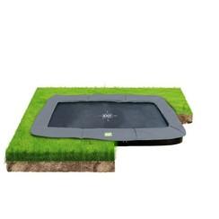 EXIT InTerra groundlevel trampoline 214x366cm - grijs