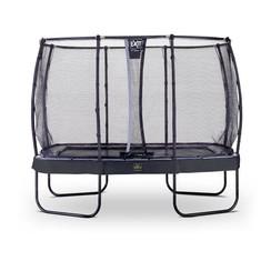 EXIT Elegant Premium rechthoekige trampoline 214x366cm + net Deluxe - zwart