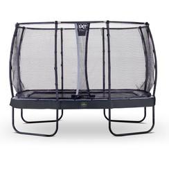 EXIT Elegant Premium rechthoekige trampoline 244x427cm + net Deluxe - zwart