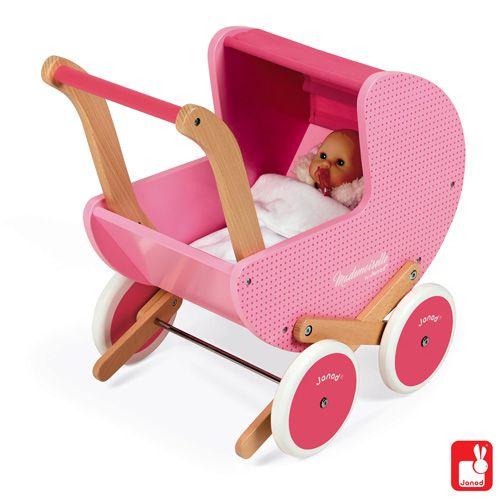 Mooie houten poppenwagen van diverse merken