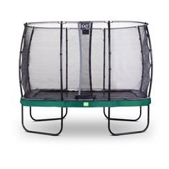 Rechthoekige trampoline 214x366cm met veiligheidsnet groen