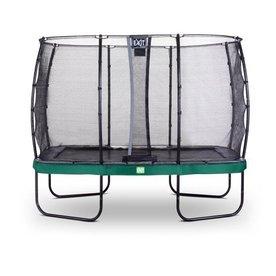 Exit Rechthoekige trampoline 214x366cm met veiligheidsnet groen