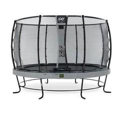 EXIT Elegant Premium trampoline ø366cm + net Deluxe - grijs