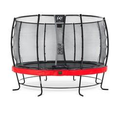 EXIT Elegant Premium trampoline ø366cm met net Deluxe - rood