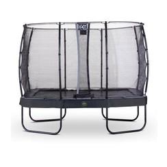 EXIT Elegant Premium trampoline met net, Economy - zwart, ø214x366 cm