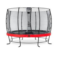 EXIT Elegant Premium trampoline ø366cm met net Economy - rood
