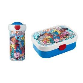 Mepal Lunchbox en Schroefbeker Graffity, Mepal