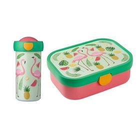 Mepal Lunchbox en Schroefbeker Tropical Flamingo