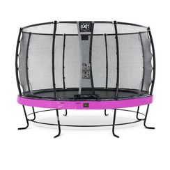 EXIT Elegant trampoline ø427cm met net Deluxe - paars