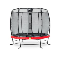 EXIT Elegant trampoline ø305cm met net Economy - rood