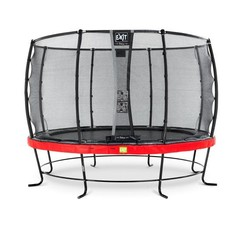 EXIT Elegant trampoline ø427cm met net Economy - rood