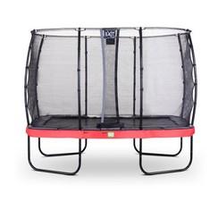 EXIT Elegant trampoline 244x427cm met net Economy - rood