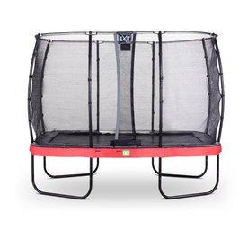 Exit EXIT Elegant trampoline 244x427cm met net Economy - rood